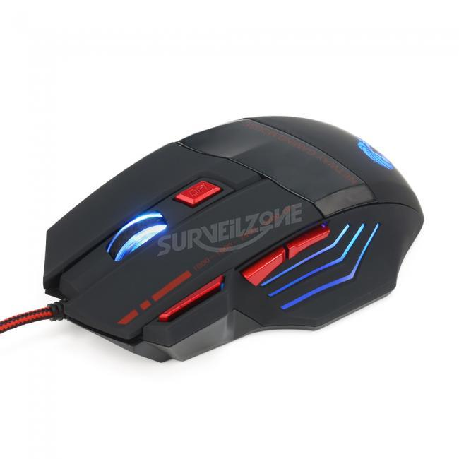 HXSJ H200 Fire Bird 7D 3200 DPI Colorful Backlight Wired Optical Gaming Mouse