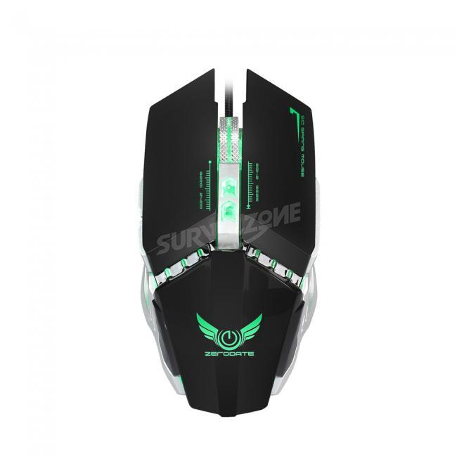HXSJ X700 8 Buttons USB Wired Optical Cooling LED Backlit Gaming Mouse
