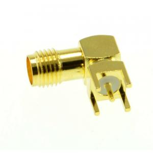 2pcs RP-SMA Jack Male Right Angle Solder for PCB Board Mount Connector