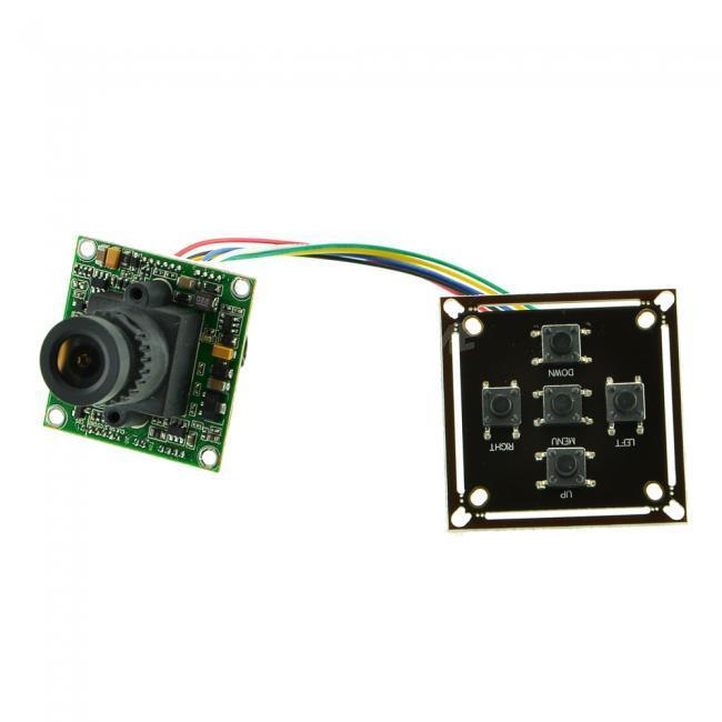 Sharp 960H CCD 700TVL Color Board Camera 2.8mm Lens OSD