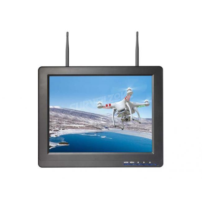 5.8G 32ch 12.1 Inch Monitor Built in Dual receiver Snow Screen Display