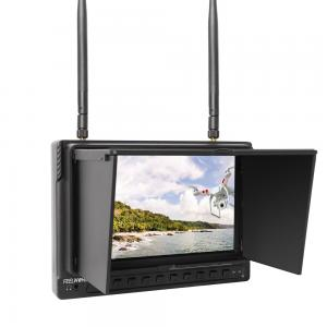 5.8G 32ch 7 Inch High Brightness FPV Monitor HD 1024*600 Snow Screen Inbuilt DVR and Battery