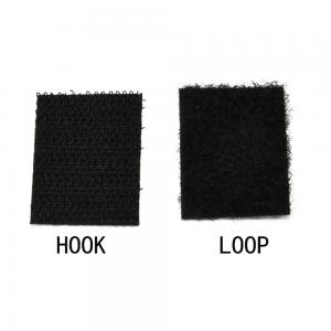 Nylon Self Adhesive Black Hook/Loop Square Velcro