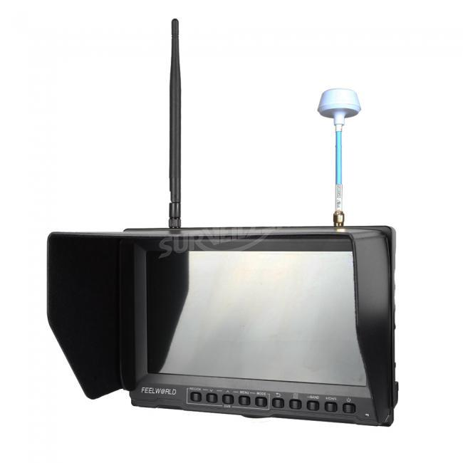5.8G 32ch 8 Inch Dual Receiver FPV Monitor 800*600 Snow Screen Inbuilt DVR and Battery