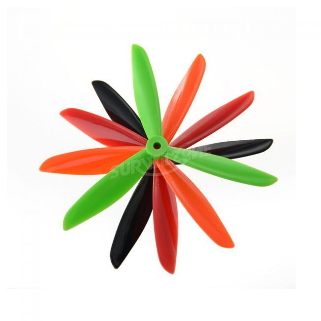 10 Pairs tri-blade DALprop TJ6045 Props for FPV Racing