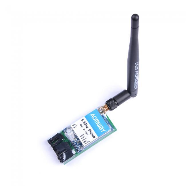 AOMWAY 5.8G 15CH AV 500mW Mini Wireless Transmitter for FPV Fatshark ImmersionRC Compatible