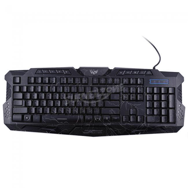 Zerodate A878 Wired 3 Color Adjustable Backlit Gaming Keyboard