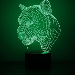 Leopard Design Night Light Remote Control Touch Tone