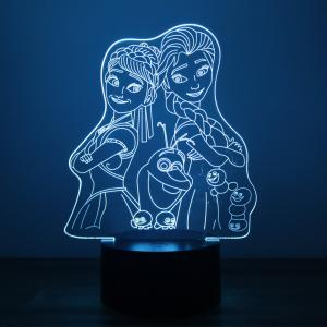 Animation Figures Design Night Light Remote Control Touch Tone