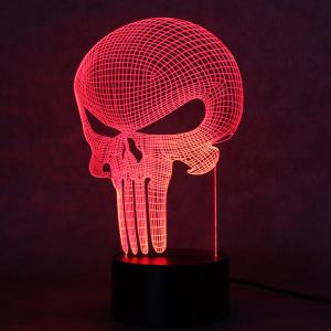 Punisher Design Night Light Remote Control Touch Tone