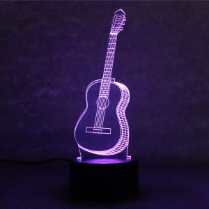 Guitar Design Night Light Remote Control Touch Tone