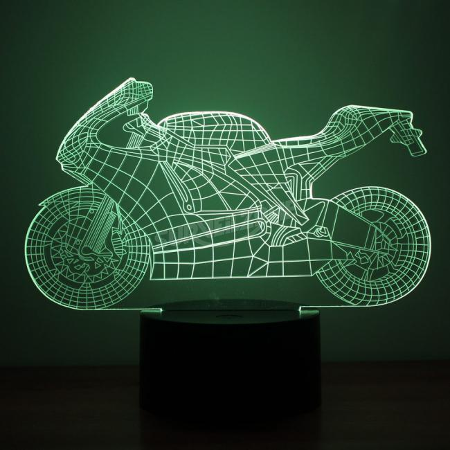 Motorcycle Design Night Light Remote Control Touch Tone