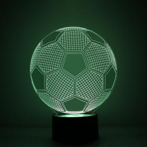 Soccer Design Night Light Remote Control Touch Tone