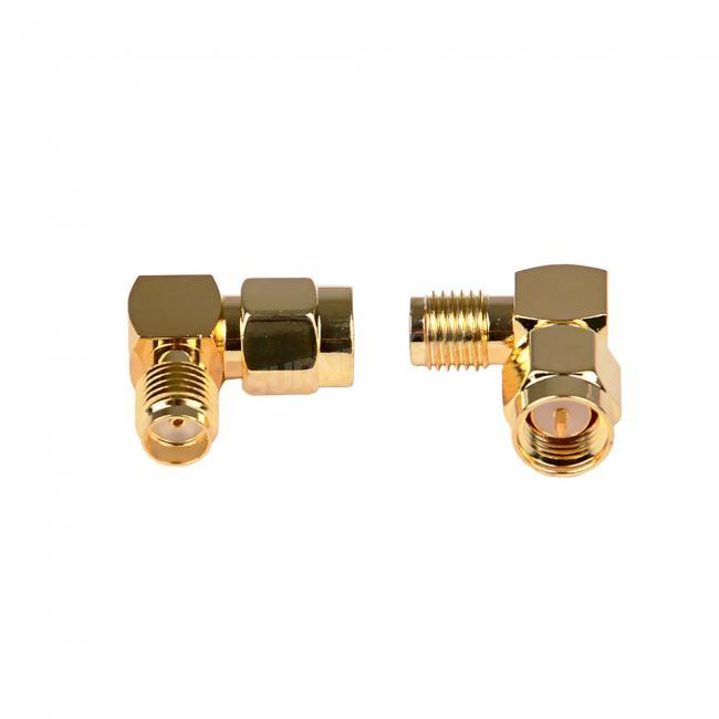 2pcs SMA Jack to SMA Plug Right Angle Adapter for Antenna