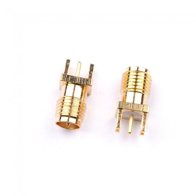2pcs PCB Edge Mount Solder 0.062'' Adapter Connector SMA/RPSMA