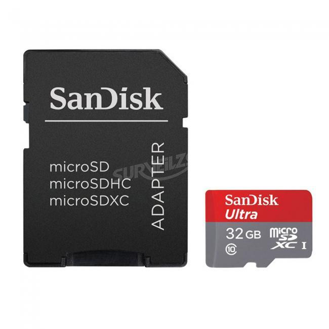 SanDisk Ultra microSDXC UHS-I Card With Adapter, 32GB, Transfer Speed Up to 80MB/s